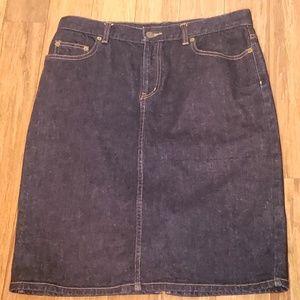 Lauren Ralph Lauren Denim Jean Skirt Size 8